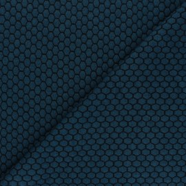 Tissu maille jersey Tomette - Pétrole x10cm