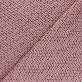 Knitted jersey fabric - light pink Chevrons x 10cm