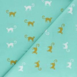 Tissu coton AGF Oh Meow ! - Feline Good x 10cm