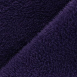 Faux fur fabric - purple Tamia x 10cm