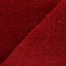 Faux fur fabric - red Tamia x 10cm
