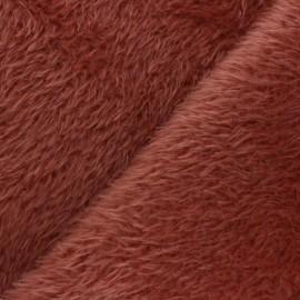 Faux fur fabric - orange Tamia x 10cm