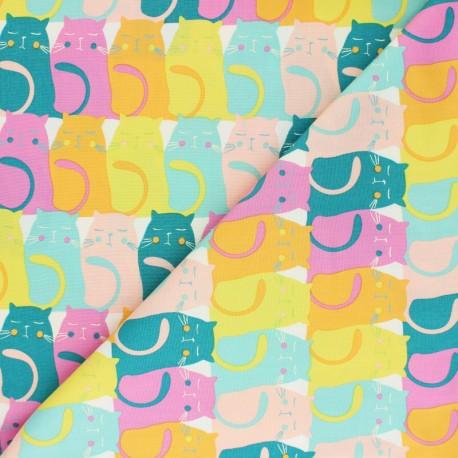 Tissu coton AGF Oh Meow ! - Catitude Snooze x 10cm
