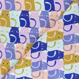 Tissu coton AGF Oh Meow ! - Catitude Slumber x 10cm