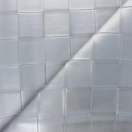 Simili cuir tressé Ode - Argent x 10cm