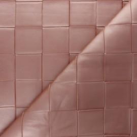 Simili cuir tressé Ode - Rose nacré x 10cm