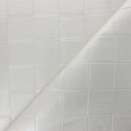 Simili cuir tressé Ode - Blanc nacré x 10cm