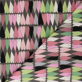Tissu coton Alexander Henry - A ghastlie heart - taupe x 10cm