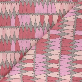 Tissu coton Alexander Henry - A ghastlie heart - rose x 10cm