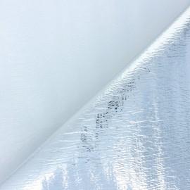 Tissu isolant thermique simple face - argent  x10cm