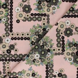 ♥ Coupon 170 cm X 110 cm ♥ Tissu coton Alexander Henry - A ghastlie bouquet - rose