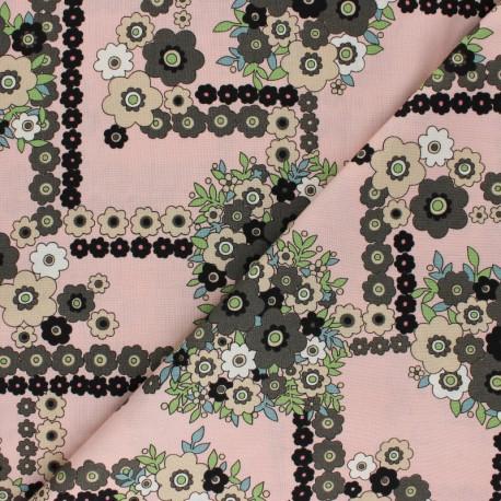 Tissu coton Alexander Henry - A ghastlie bouquet - rose x 10cm