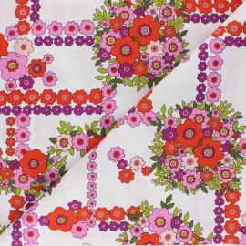 Tissu coton Alexander Henry - A ghastlie bouquet - blanc x 10cm