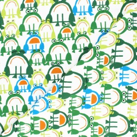 Cloud 9 cotton fabric - Ed Emberley favorites - Frog x 10 cm