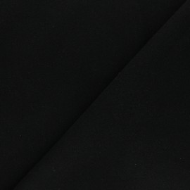 Tissu drap manteau uni Moscou - Noir x 10cm