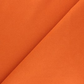 Plain coat sheet fabric - orange Moscou x 10cm