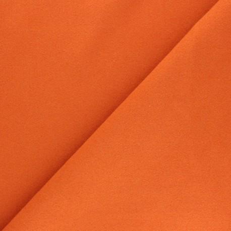 Plain coat sheet fabric - orange Moscou x 10cm