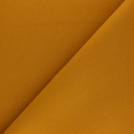 Tissu drap manteau uni Moscou - Ocre x 10cm