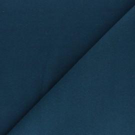 Tissu drap manteau uni Moscou - Pétrole x 10cm