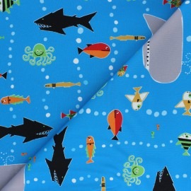 Cloud 9 cotton fabric - Ed Emberley favorites - Sea life x 10 cm