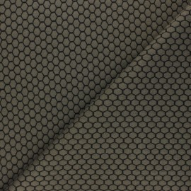Knitted jersey fabric - khaki Tomette x 10cm