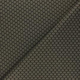 Tissu maille jersey Tomette - Kaki x10cm