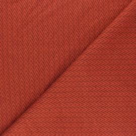 Tissu maille jersey Chevrons - Rouille x10cm