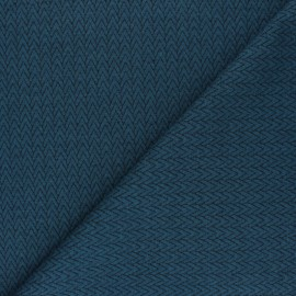 Knitted jersey fabric - petrol Chevrons x 10cm