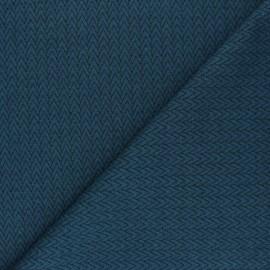 Tissu maille jersey Chevrons - Pétrole x10cm