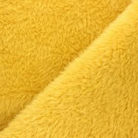 Faux fur fabric - ochre Tamia x 10cm