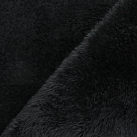 Tissu Fourrure Tamia - Noir x 10cm