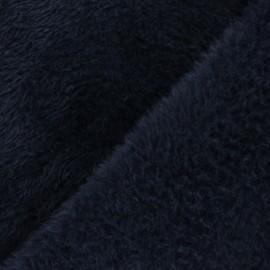 Faux fur fabric - navy blue Tamia x 10cm