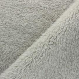 Tissu Fourrure Tamia - Gris clair x 10cm