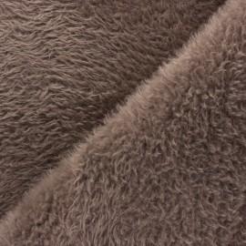 Faux fur fabric - Taupe Tamia x 10cm