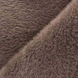 Tissu Fourrure Tamia - Taupe x 10cm
