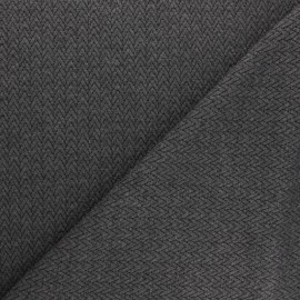 Knitted jersey fabric - grey Chevrons x 10cm