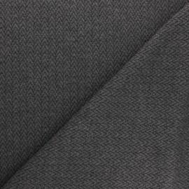 Tissu maille jersey Chevrons - Gris x10cm