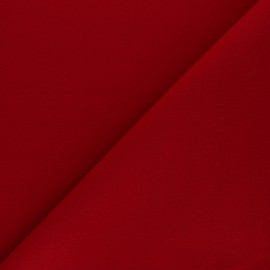 Plain coat sheet fabric - red Moscou x 10cm