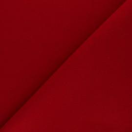 Tissu drap manteau uni Moscou - Rouge x 10cm