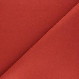 Tissu drap manteau uni Moscou - Rouille x 10cm