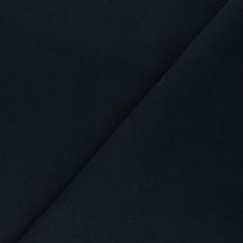Plain coat sheet fabric - navy blue Moscou x 10cm