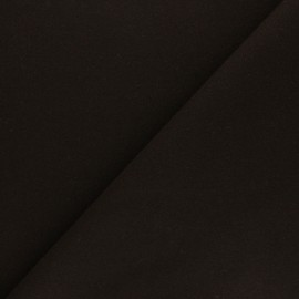 Plain coat sheet fabric - brown Moscou x 10cm