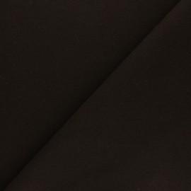 Tissu drap manteau uni Moscou - Marron x 10cm