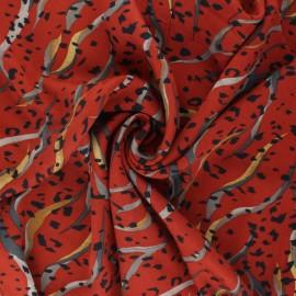 Tissu twill viscose Noriker - terracotta x 10 cm
