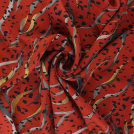 Twill viscose fabric - terracotta Noriker x 10 cm