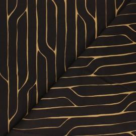 Tissu rayonne Cloud 9 - Spring Reverie - Orchard Lane - chocolat x 10 cm