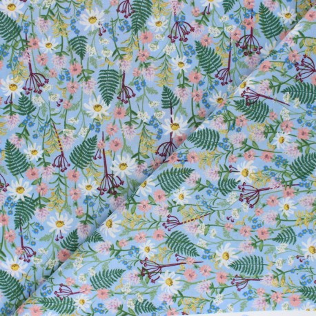 Rifle Paper Co. Cotton fabric - Blue Wildflowers x 10cm
