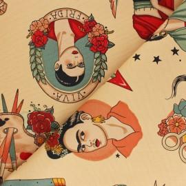 Tissu toile de coton Alexander Henry Todo para ti - beige x 10cm