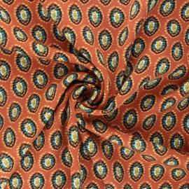 Tissu twill viscose Nora - terracotta x 10 cm