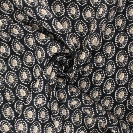 Tissu twill viscose Nora - noir x 10 cm